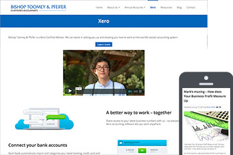 Bishop Toomey & Pfeifer - Website for Accountants by Bizink