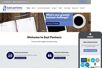East Partners - Websites for Accountants by Bizink