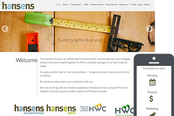 Hansens - Website for Accountants by Bizink