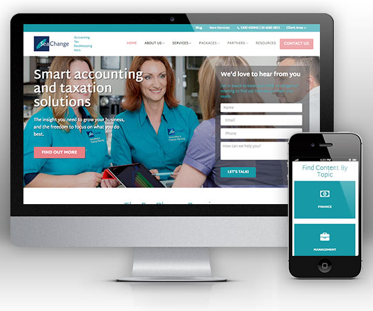 SeaChange Accounting Website for Accountants by Bizink