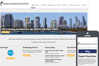 Shand Business Solutions - Website by Bizink