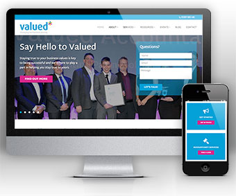 Valued - Website for Accountants by Bizink